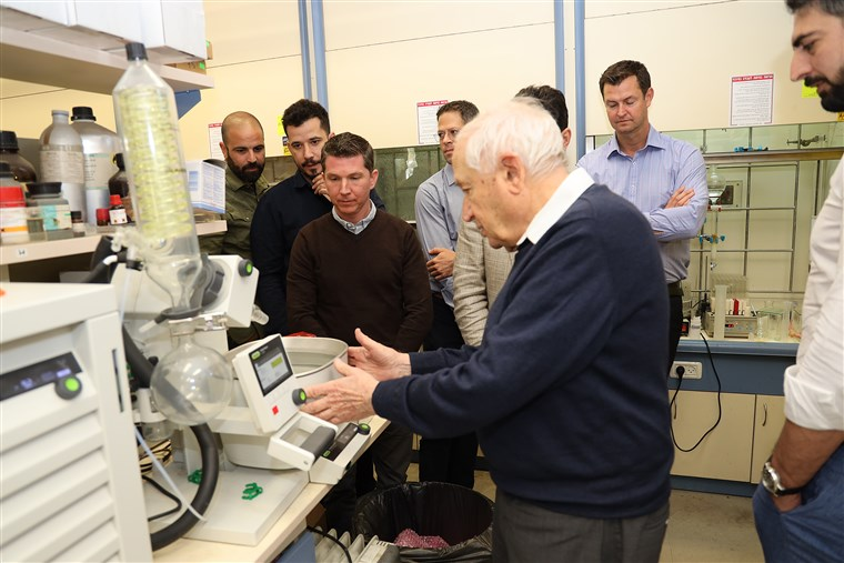 "Israeli Professor Raphael Mechoulam, who is known as the ""father of cannabis"" for his groundbreaking work with THC and is EPM's head of research."